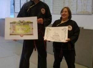 Qwan Ki Do - Foto diplomi e Passaggio cintura Franca e 4° dang Maestro (12)